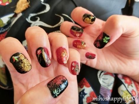 Japanese style nail art mihos happy life the nail stickers are from daiso 100 yen shop in japan prinsesfo Image collections